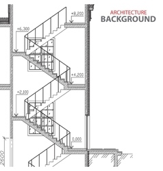 Stairs architecture background vector