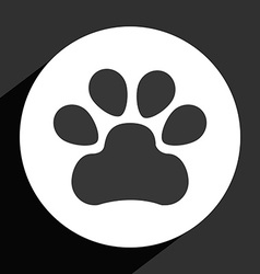 Footprint icon vector