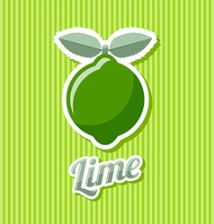 Retro lime vector image