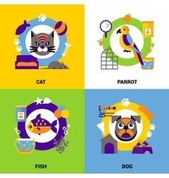 Veterinary design concept set vector
