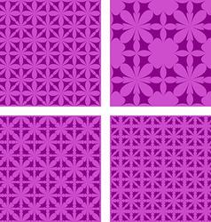 Purple seamless pattern background set vector
