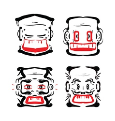 Aztec faces vector