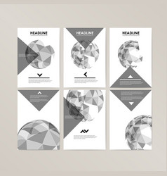 Banner template design with spherical and vector
