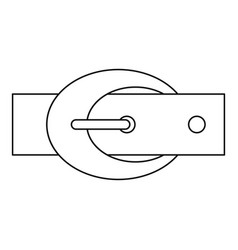 Belt with oval shaped buckle icon outline style vector