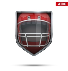 Bright shield in the american football helmet vector