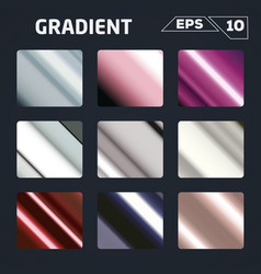 Color gradient set vector