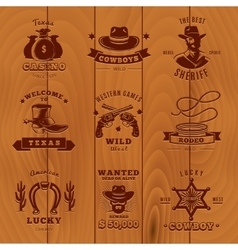 Dark Vintage Sheriff Label Set vector image vector image
