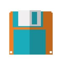 Diskette icon technology design graphic vector