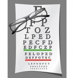 eye charts and glasses vector image