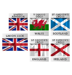 Flags of united kingdom vector