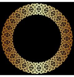 Gold openwork frame vector