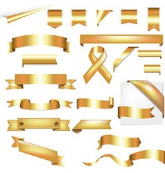 Gold Set vector image vector image