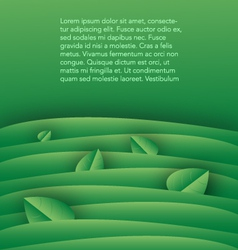 green background template with leaves vector image vector image