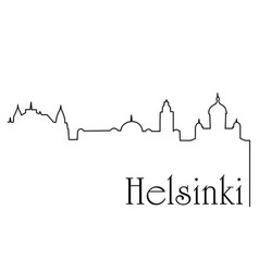 helsinki city one line drawing background vector image vector image