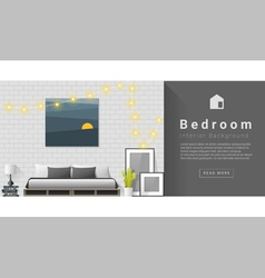 Interior design modern bedroom background 1 vector