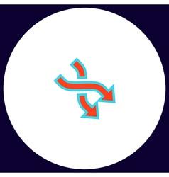 Intersection arrow computer symbol vector