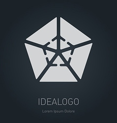 Logo with arrows logotype design element or icon vector image vector image