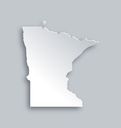Map of Minnesota vector image vector image