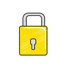 Padlock to have sacurity the special thing vector