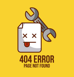 Page not found vector