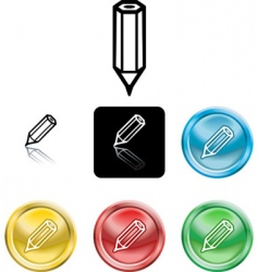 pencil icon symbol vector image