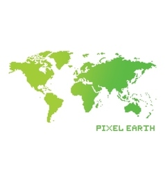 Pixel art game location style earth map vector