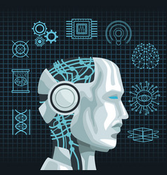 Robot artificial intelligence vector