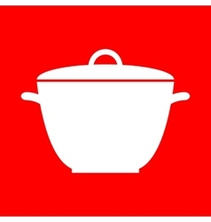 Saucepan simple sign vector image vector image