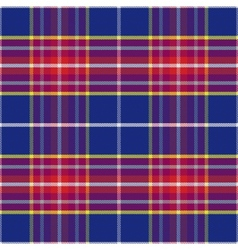 seamless blue and red Scottish tartan vector image vector image