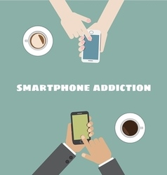 smartphone addiction vector image