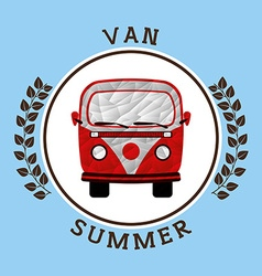 summer vacations icon vector image vector image