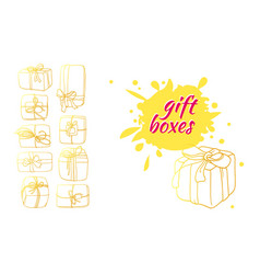template box gift 3 vector image vector image