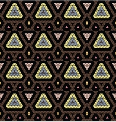 Tribal monochrome pattern vector