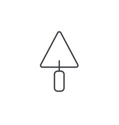 Trowel tool thin line icon linear symbol vector