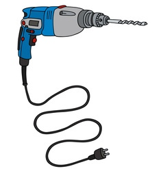 Blue impact drill vector