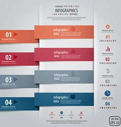 infographics design 4 vector image