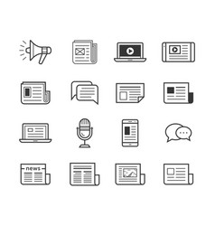 Media icons set - simplus vector