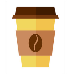 coffee paper cup isolated icon vector image