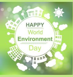 Happy world environment day vector