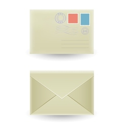 The closed envelope vector image