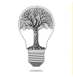 Isolated eco bulb vector