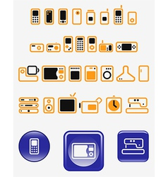 Home electronics vector