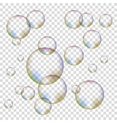 Set of colorful bubbles vector