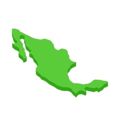 Mexico map icon isometric 3d style vector