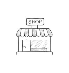 Shop store sketch icon vector
