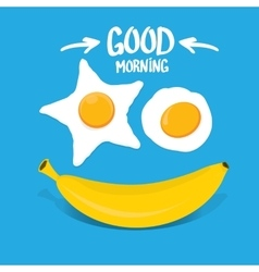 Good morning funny concept vector