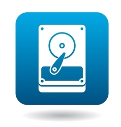 Hard drive data icon simple style vector