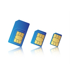 Mobile phone sim card set vector