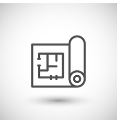 Architectural blueprint icon vector