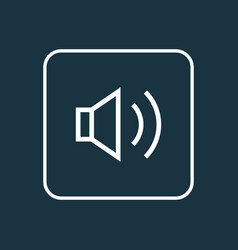 audio outline symbol premium quality isolated vector image vector image